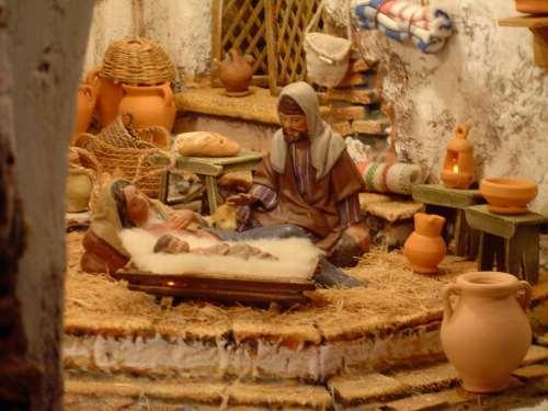 Belén inspirado en los tipicos molinos harineros que habia en la sierra de Cádiz (y otros lugares)