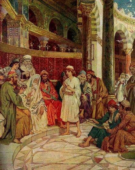 Jesús con los doctores de la Ley